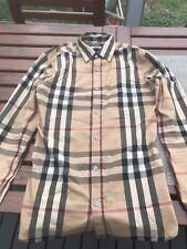 Burberry Shirt Button Up Nova Checkered Authentic Retail Over $550