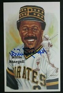 Willie Stargell Signed 1989 Perez Steele HOF Art Autograph Postcard L/E Series