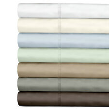 300TC SOLID 100% Luxurious Egyptian Cotton Sateen Sheet set or Pillow Case Set