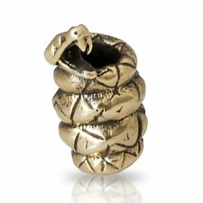 SNAKE Paracord Bead Handmade Lanyard Beads Brass EDC Accessories Supplies Charms