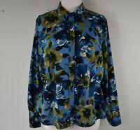Jones New York Sport Sz. XL Long Sleeve Cotton Watercolor Floral Button Up Shirt