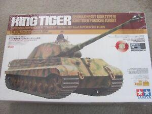 New 1/16 Tamiya 2 Channel R/C King Tiger German Tiger II Porsche turret DMD T01