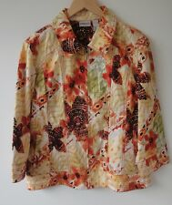 Chico's Floral Zip Up  Women's Jackets Size-2