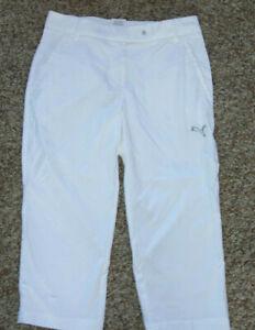 Puma Golf Sport Lifestyle Dry Cell White Capri Cropped Pants - Women Size 0
