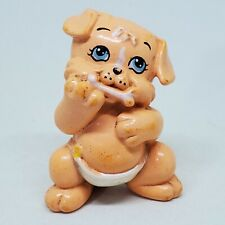 Vintage Magic Diaper Babies Puppy 1991 Galoob LGT Orange Tan Peach Dog