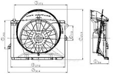 Global Parts Distributors 2811538 Radiator Fan Assembly