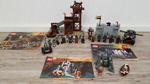 LEGO Herr der Ringe 9471, 9476 und Hobbit 79000 100% komplett, ALLE Figuren! TOP