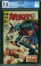 Avengers #50 CGC 7.5 -- 1968 -- Hercules leaves. Zeus. Typhon. Ares #2020905001