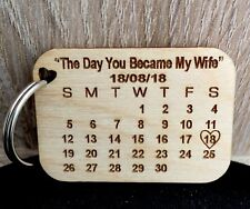 Personalised Calendar keyring,Customize your text,word,for every occasion gift,