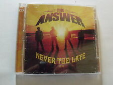 CD + DVD The Answer  Never too late ( CD ep + DVD)