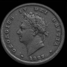 LE ROI George IV 1827 Penny. Très rare Penny.