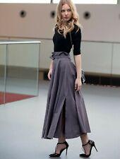 Envy gray belted long skirt