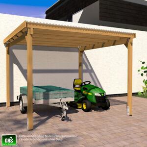 Unterstand 3x3 m Überdachung für Gartengeräte + Gartenmöbel, Kaminholz + Grill