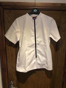 Trafalgar Beautician's Zip Up Tunic White Size 14 Never Been Worn