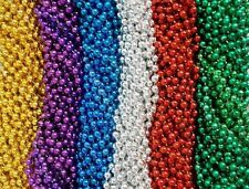 144 6 Bright Colors Mardi Gras Gra Beads Necklaces Party Favors Huge Lot (12 doz
