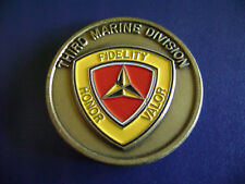 UNITED STATES MARINE CORPS THIRD MARINE DIVISION CHALLENGE COIN