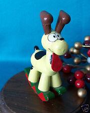 UFS Garfield Wooden Ornament  Garfield  Pookie as a Deer Rocking Horse