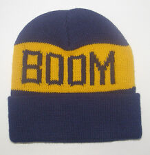 NRL MELBOURNE STORMS MASCOT BOOM LICENSED RUGBY LEAGUE BEANIE FREE POSTAGE NEW