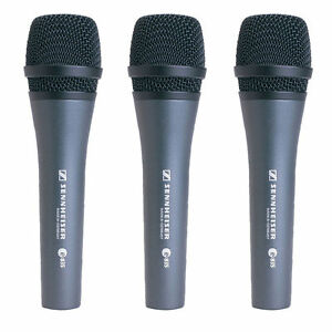 Sennheiser E835 Cardioid Handheld Dynamic Microphone Kit - Includes 3 E835 Kits