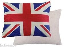 FILLED EVANS LICHFIELD UNION JACK RED BLUE  MADE IN UK FLAG CUSHION 43 X 33CM