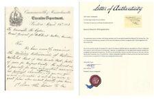 CIVIL WAR GENERAL EDWARD A WILD SIGNED LETTER 1863 HISTORIC AUTOGRAPHS SIGNATURE