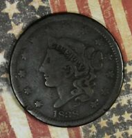 1838 LARGE CENT COPPER COLLECTOR COIN FREE SHIPPING.
