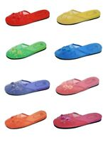Womens Slip On Chinese Slippers Sandals Assorted Colors Sizes 5 6 7 8 9 10 11