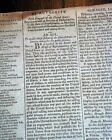 President JOHN ADAMS Act re. $$ Signed in Type 1798 Baltimore Maryland Newspaper