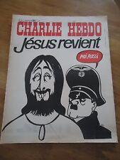 CHARLIE HEBDO N°73 JESUS REVIENT HITLER CABU  10 avril 1972 Magazine ORIGINAL