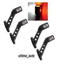 4 X 12V 24V STALK OUTLINE LED SIDE MARKER LIGHTS LAMPS TRUCK TRAILER CHASSIS