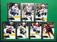 2017-18 Parkhurst Black Lot Of 7 Base Parallel Cards