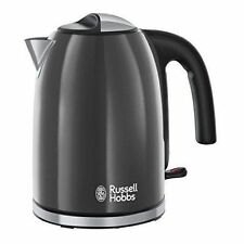 Russell Hobbs 20414 Colours Plus 1.7L Jug Kettle 3000w In Grey - Brand New