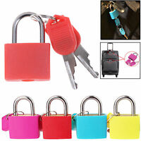 4pc Heavy Duty Coated Brass Padlock Travel Luggage Bag Suitcase Security Shackle