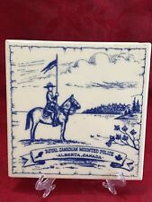 Royal Canadian Mounted Police Alberta Canada Wall Tile Trivet Plaque Vintage