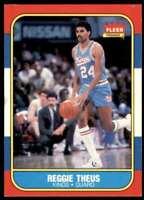 1986-87 Fleer Basketball Card Reggie Theus Sacramento Kings #108