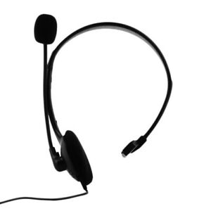 Over Head 3.5mm Mono Headset with Boom Mic Volume Mute for PS4 Phone Laptop PC