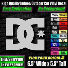 DC Shoes Decal Sticker skateboard sports logo brand emblem truck JDM drift block
