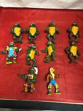 Lot Of Vintage Teenage Mutant Ninja Turtles Action Figures (1988-1990)