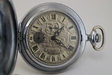 "Soviet pocket watch MOLNIJA Wood Grouse ""50 years production"" made in Russia"