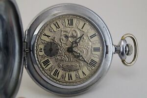 """Soviet pocket watch MOLNIJA Wood Grouse """"50 years production"""" made in Russia"""