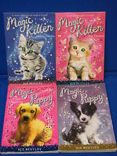 4 Magic Puppy Kitten Sue Bentley Paperback YA Book Lot Chapter Muddy Paws Double