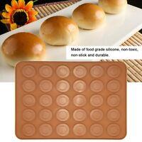 30 Holes Silicone Pastry Cake Macaron Macaroon Oven Baking Mould Sheet Mat DIY