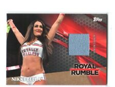 WWE Nikki Bella 2017 Topps TNF Event Used RR Mat Bronze Relic Card SN 90 of 99