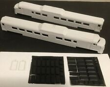 HO New Haven RR Budd RDC 'Roger Williams' End Cab 2-unit Resin Body Shell by MTM