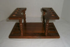 Vintage Pipe Stand Wood Rack Holds 8 Pipes