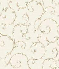 Fifth Avenue Scroll on Off White Wallpaper FD8489