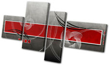 Modern Red Abstract MULTI DOEK WALL ART foto afdrukken