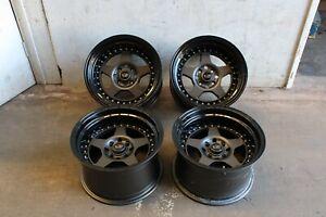 "Rota Kyusha 15"" Alloys fits Mx5 VW POLO GOLF LUPO COLT CIVIC MR2 BMW MINI 4x100"