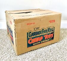Vintage 1986 Topps Garbage Pail Kids CHEAP TOYS Empty OUTER CASE BOX display toy
