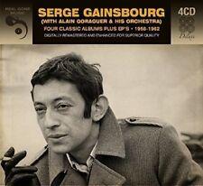 SERGE GAINSBOURG - 4 CLASSIC ALBUMS PLUS EPS 1958-1962  4 CD NEU